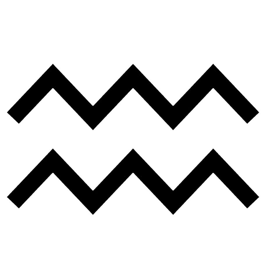símbolo acuario
