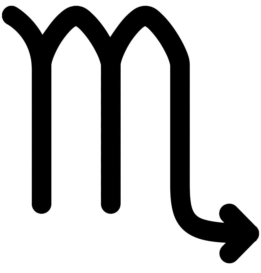 simbolo escorpio